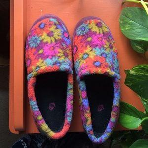 acorn flower slippers
